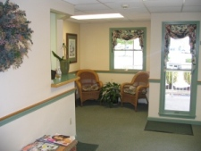 Waiting Room of Coastal Maine Periodontics office of Periodontist Dr. Donald Theriault DMD