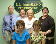 Periodontist Dr. Donald Theriault DMD of Coastal Maine Periodontics in Portland Maine is a Board Certified periodontist with over 25 years of experience in dentistry & highly trained in all aspects of periodontal diagnosis & treatment as well as implantology and the Coastal Maine Periodontics Staff